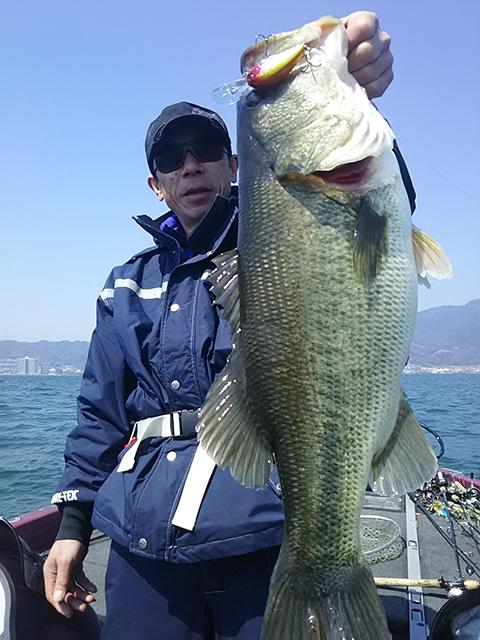 琵琶湖にてブリッツMAX-DRで61cmのビッグバスがキャッチされました!