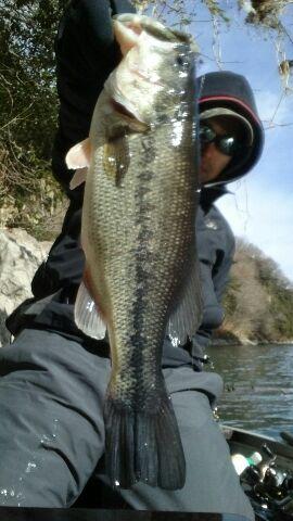 厳寒期の神奈川県相模湖で、iウェーバーにてビッグフィッシュがキャッチされました!