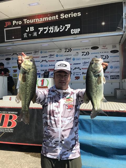JB霞ヶ浦第2戦で優勝された梶原選手のウイニングルアーがドライブスティック4.5″でした!