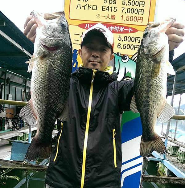 相模湖で50cmを筆頭に6匹の釣果をたたき出したドライブスティック!