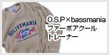 O.S.P×bassmania ファーボアクールトレーナー