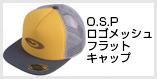 O.S.Pロゴメッシュフラットキャップ