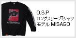 O.S.PロングスリーブTシャツ モデルMISAGO