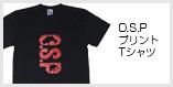 O.S.PプリントTシャツ